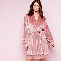 The Collection - Pale pink 'Eva' dressing gown
