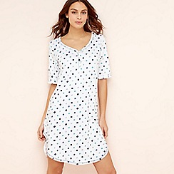 Lounge & Sleep - White spot print cotton nightdress