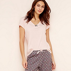 Lounge & Sleep - Pink cotton short sleeve pyjama top