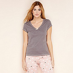 Lounge & Sleep - Grey short sleeve pyjama top