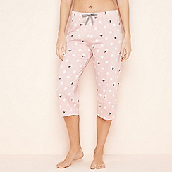 Lounge & Sleep - Light pink spot bee print pyjama bottoms