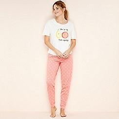 Lounge & Sleep - White 'You're My Main Squeeze' pyjama set