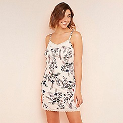 Gorgeous DD+ - Pink floral print chemise