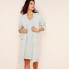 Lounge & Sleep - Grey stripe print jersey wrap