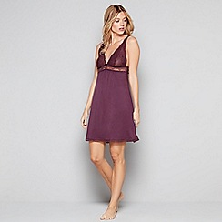 J by Jasper Conran - Purple lace trim 'City Chic' chemise