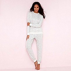 Lounge & Sleep - Beige sheep print pyjama set