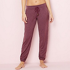 Lounge & Sleep - Maroon 'Weekend' loungewear bottoms