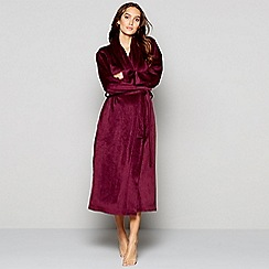 J by Jasper Conran - Purple island fleece dressing gown