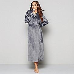 J by Jasper Conran - Grey island fleece dressing gown