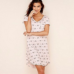 Lounge & Sleep - Light pink butterfly print cotton blend 'Wall Flower' nightdress