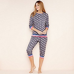 Lounge & Sleep - Grey star print loungewear set