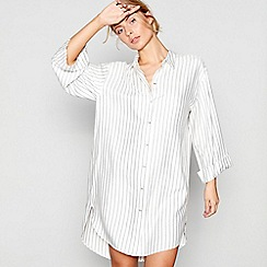 J by Jasper Conran - Cream stripe print 'Hygge' nightshirt