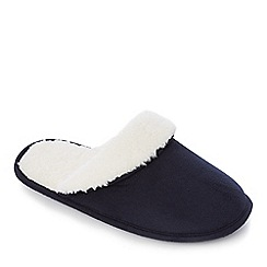Lounge & Sleep - Navy memory foam mule slipper