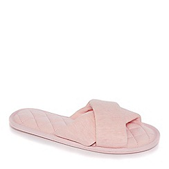Lounge & Sleep - Pink cross-over mule slippers
