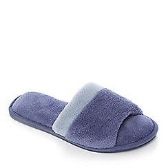 Lounge & Sleep - Blue cross strap open toe mule slipper