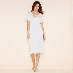 Lounge & Sleep - White stripe short sleeve nightdress