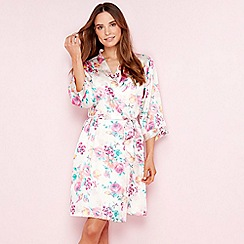 2a4b579fd5 The Collection - Pale pink floral print satin dressing gown