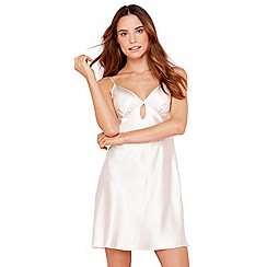The Collection - Pale pink satin keyhole chemise