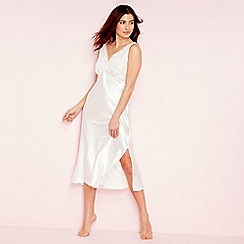 The Collection - Ivory floral mesh lace nightdress