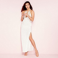 The Collection - Ivory bridal floral lace nightdress