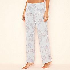 Lounge & Sleep - Blue paisley print 'Wanderer' pyjama bottoms