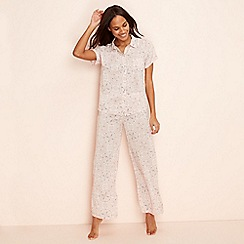 Lounge & Sleep - Pink paisley print 'Wanderer' short sleeve pyjama set