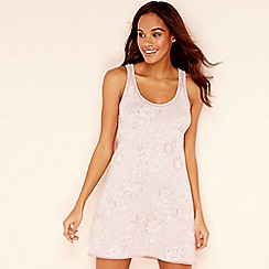 Lounge & Sleep - Pink floral print pure cotton 'Wanderer' chemise