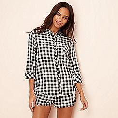 Lounge & Sleep - Black gingham pyjama set