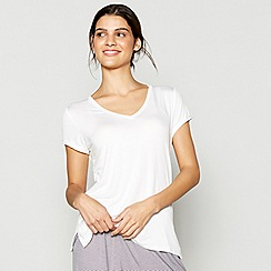 J by Jasper Conran - Cream V-neck loungewear top