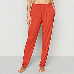 J by Jasper Conran - Dark orange loungewear bottoms