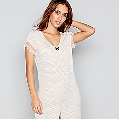 J by Jasper Conran - Pink geometric print short sleeve pyjama top
