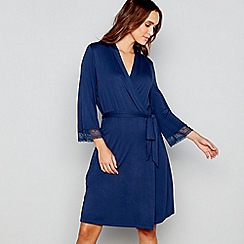 J by Jasper Conran - Navy dressing gown