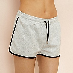 Lounge & Sleep - Light grey marl loungewear shorts