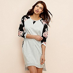 Lounge & Sleep - Light grey floral print 'Eden' loungewear dress