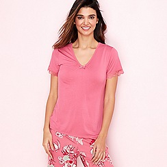 Gorgeous DD+ - Rose 'Oriental Bloom' short sleeve pyjama top
