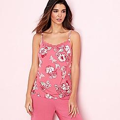 Gorgeous DD+ - Rose floral print 'Oriental Rose' camisole vest