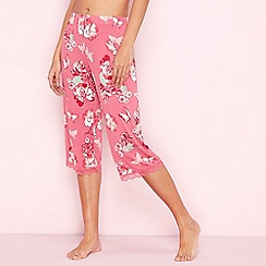 Gorgeous DD+ - Rose floral print 'Oriental Bloom' pyjama bottoms