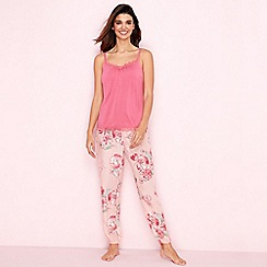 Gorgeous DD+ - Rose floral print 'Oriental Bloom' pyjama set