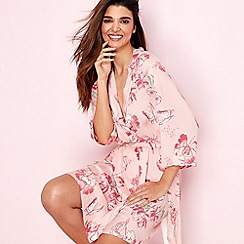 Gorgeous DD+ - Light pink floral 'Oriental Bloom' dressing gown