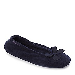 Totes - Navy pillow step ballerina slippers