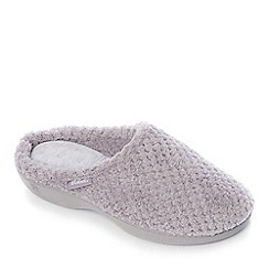 Totes - Grey ultra foam comfort mule slippers