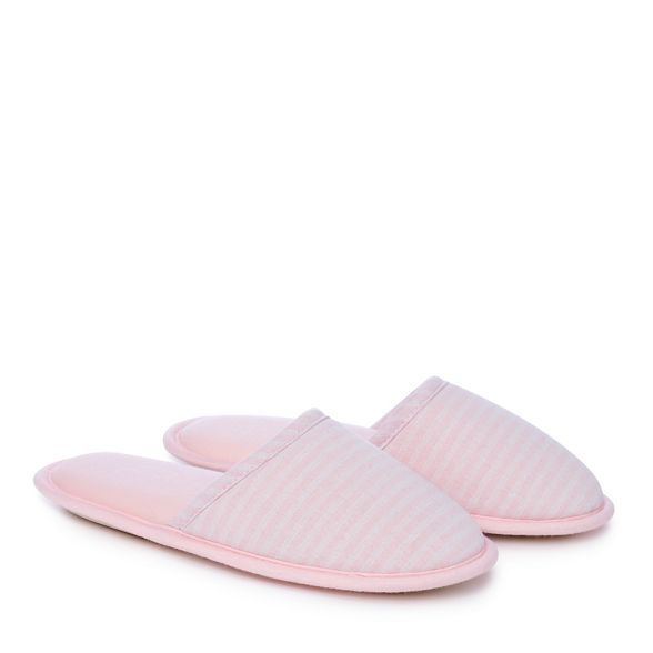 closed Lounge amp; slippers print stripe Sleep Pink mule toe TBTxO1