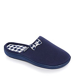 Totes - Navy Isotoner Pillowstep mule slippers