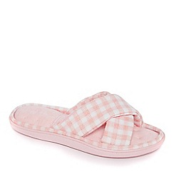 Totes - Pink Isotoner Pillowstep mule slippers