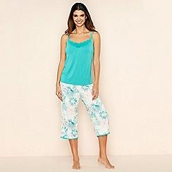 Gorgeous DD+ - Cream floral print pyjama set
