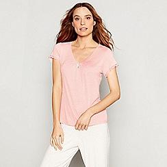J by Jasper Conran - Pink jersey 'Nomad' short sleeve pyjama top