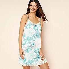 Gorgeous DD+ - Cream floral print chemise