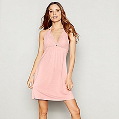 J by Jasper Conran - Pink jersey lace 'Nomad' chemise