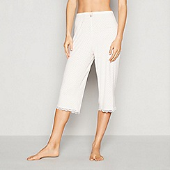 J by Jasper Conran - White diamond print jersey 'Nomad' pyjama bottoms