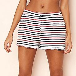 Lounge & Sleep - Red striped cotton pyjama shorts
